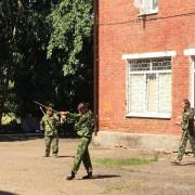 Спортивно-военнизированная эстафета для ребят лагеря