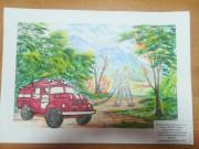 Деятельность пожарно-спасательной службы в рисунках