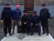 В казачьей школе был установлен постамент и бюст святому благоверному князю Александру Невскому