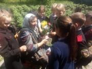 Казачата поздравили ветеранов