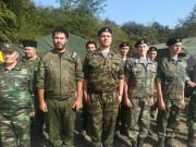 Казачья молодежь на военно-полевом сборе казаков